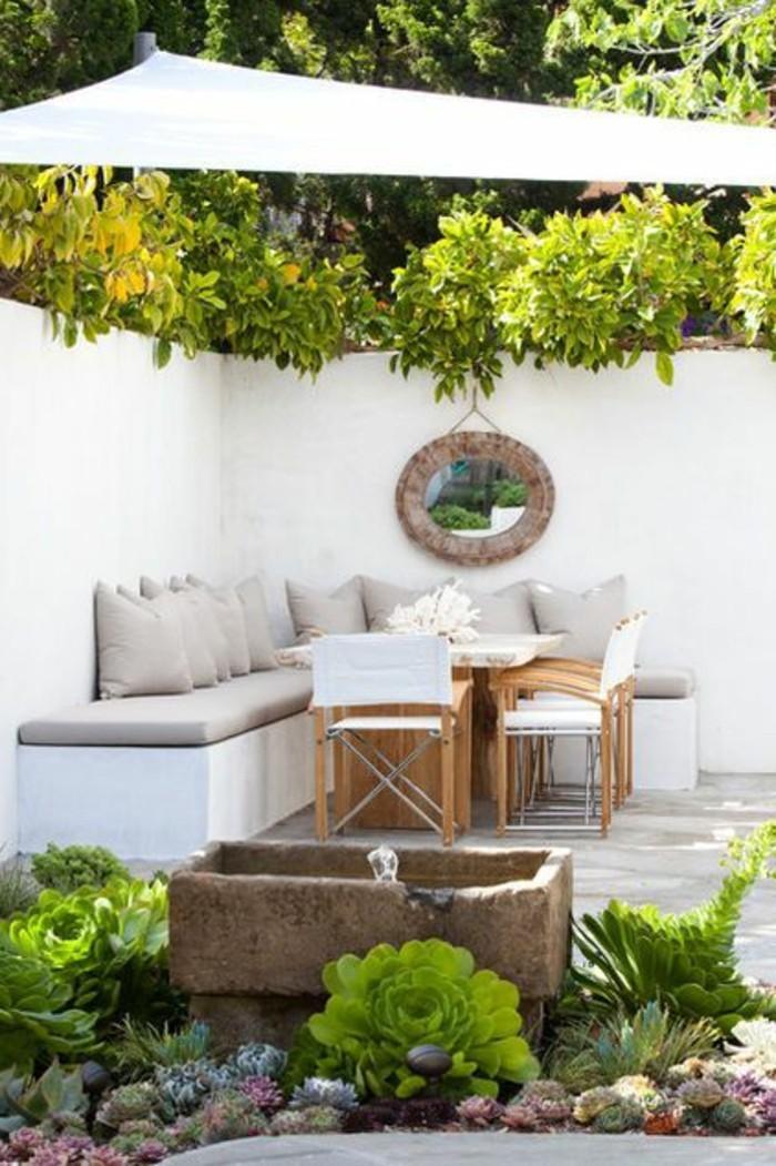 Garten Idee Mauer