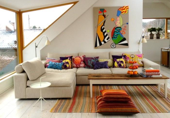 wohnzimmer accessoires bringen leben ins zimmer:Das in neutralen Tönen gestaltete Wohnzimmer könnte auch ganz schön