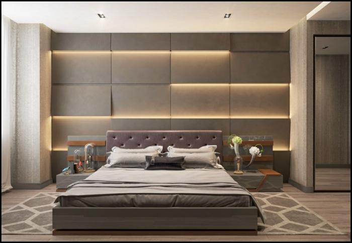 ideen für schlafzimmer kleines zimmer dekorieren und einrichten zimmerbelcuthung led licht 3d wandpaneele