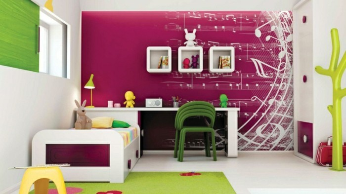 interessante-wandfarben-ideen-für-mädchenzimmer