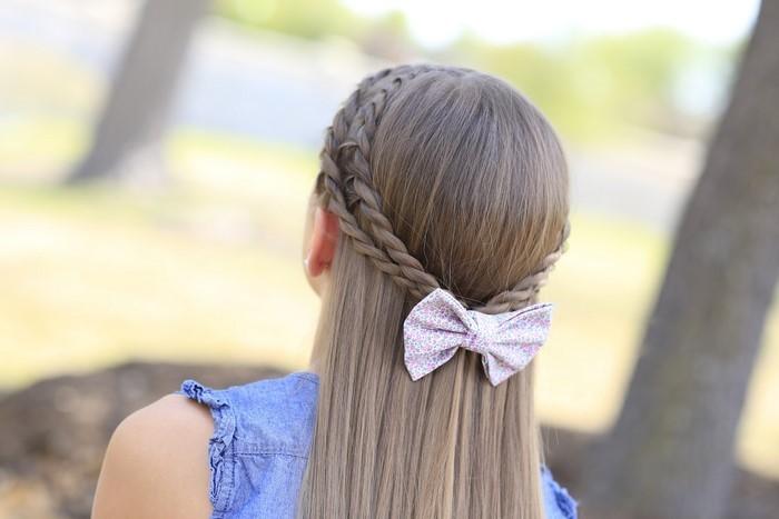 kinder-frisuren-ein-Band-im-Haare