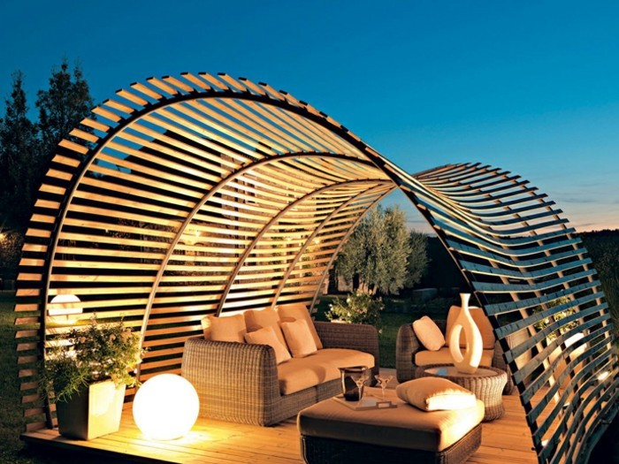 beautiful holz pergola garten moderne beispiele photos - simology, Terrassen ideen