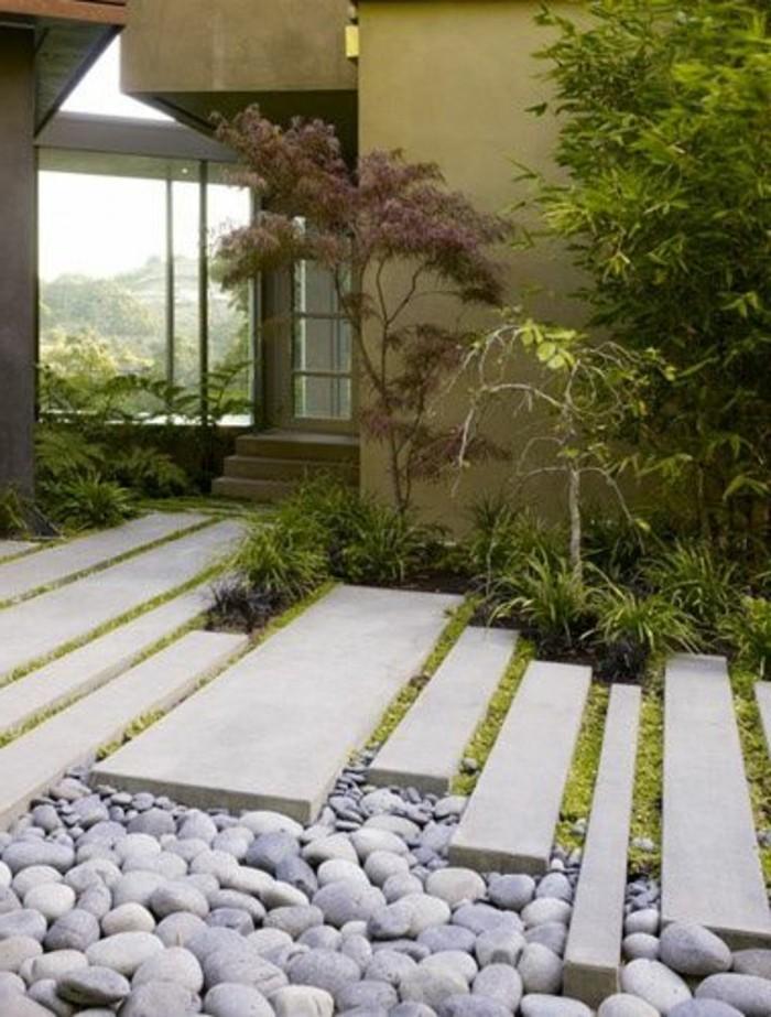 moderne-gartengestaltung-beton-boden-und-steine