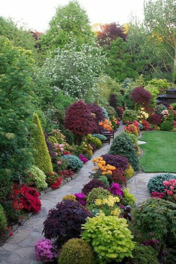 Uberlegen Moderne Gartengestaltung Pflanzen Sichtschutz Gartenweg