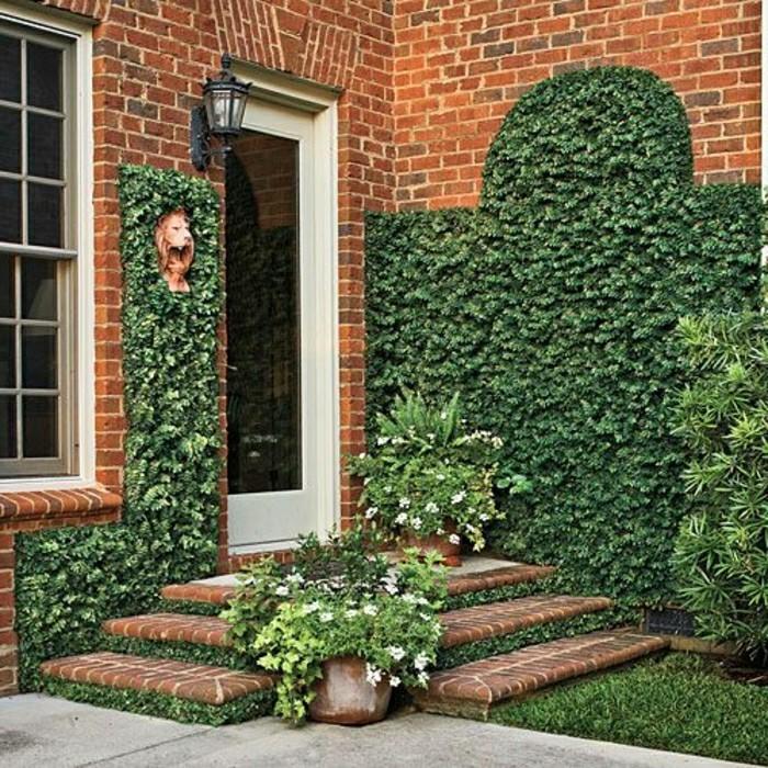moderne-gartengestaltung-vorgarten-mit topfplanzen