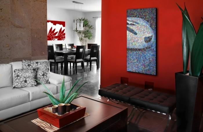 modernes-wohnzimmer-mit-akzentwand-in-rot-wandfarben-vorschläge