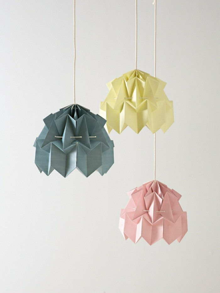 origami-lampenschirm-einige-DIY-ideen