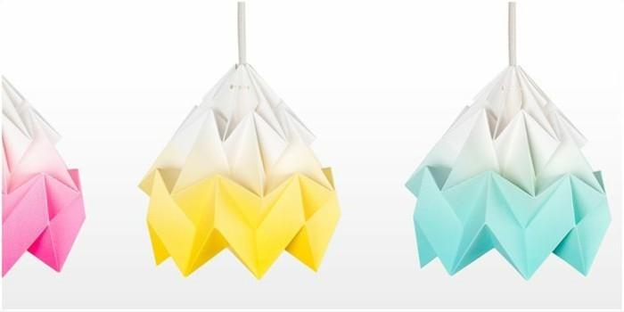 Origami Lampenschirm Selber Basteln Archzine Net