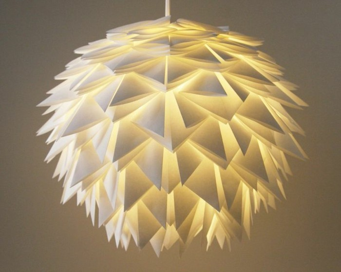 origami lampenschirm selber basteln. Black Bedroom Furniture Sets. Home Design Ideas
