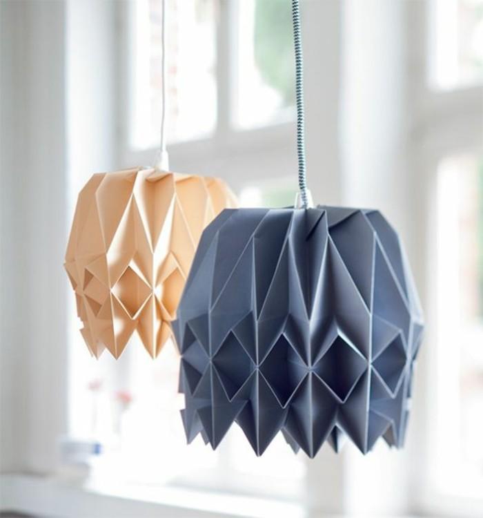 origami-lampenschirm-schöne-lampenschirme-aus-farbigem-lampenpapier