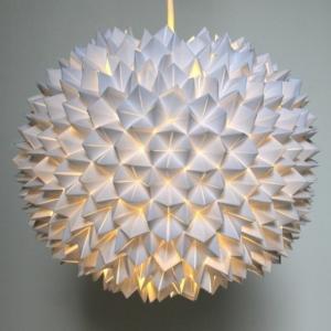 Origami Lampenschirm selber basteln