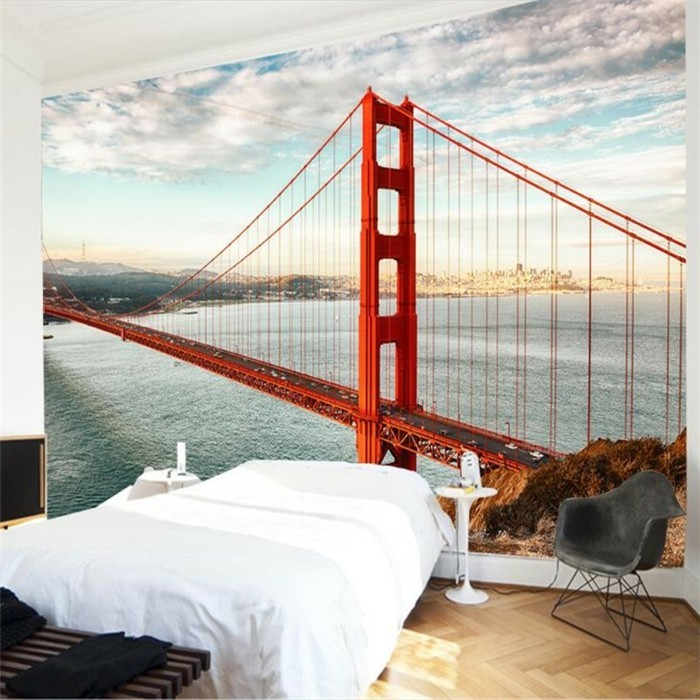 originelle-wandfarben-ideen-super-schöne-fototapete-im-schlafzimmer