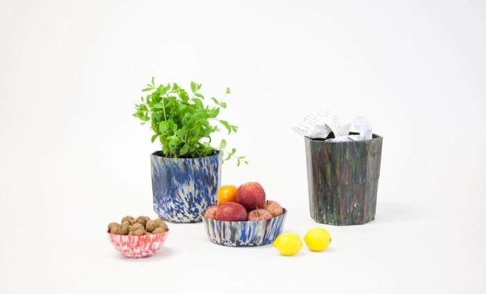 plastik-recycling-ideen-für-blumentöpfe