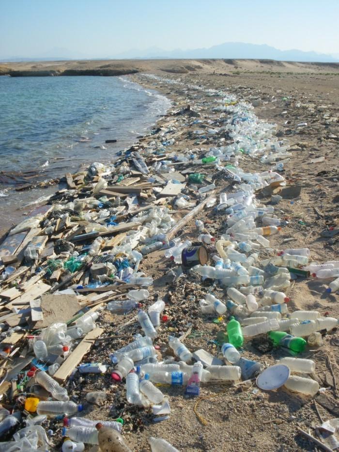 plastik-recycling-strand-mit-plastikmüll