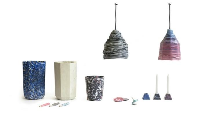 plastik-recycling-töpfe-und-lampen