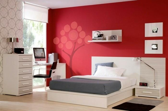 100 interieur ideen mit grellen wandfarben for Dormitorios para matrimonios jovenes