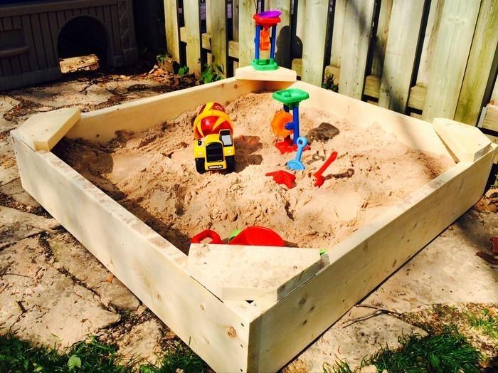 sandkasten-selber-bauen-Sandkasten-homemade