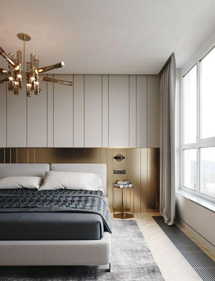 schlafzimmer ideen modern kleines zimmer einrichten einrichtung in weiß goldene akzente zimmergestaltung