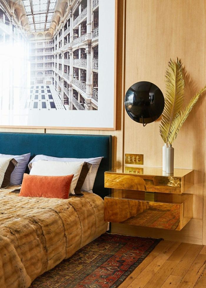 schlafzimmer ideen wandgestaltung zimmer einrichten und dekorieren farbpalette schlafzimmergestaltung großes bild