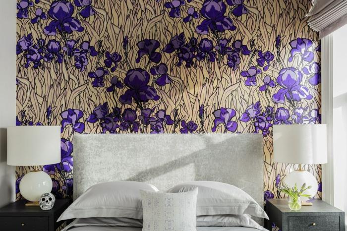 schlafzimmer tapeten ideen wandgestaltung wohnung einrichten schlafzimmergestaltung modern