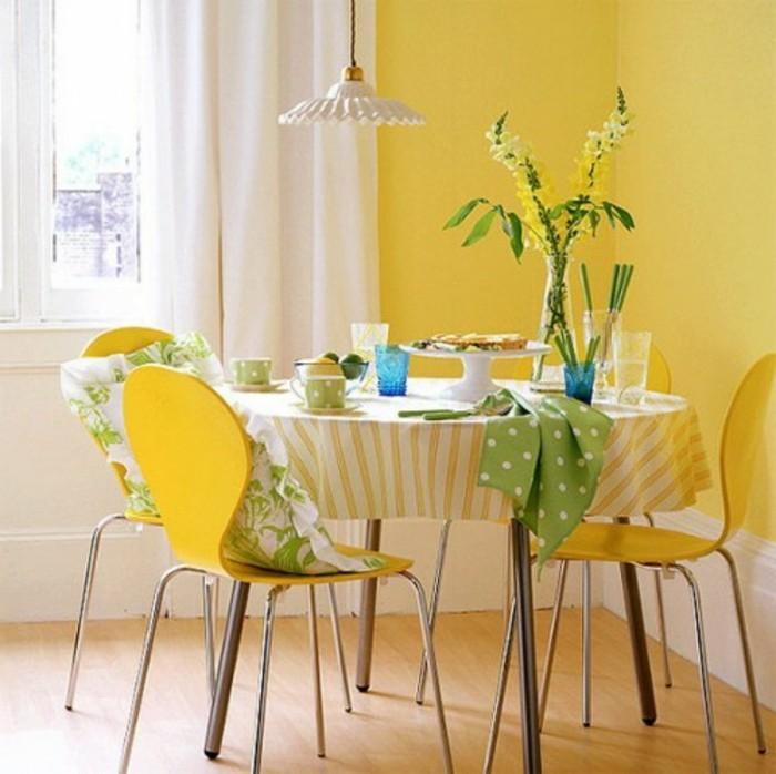 Wandfarbe Gelb