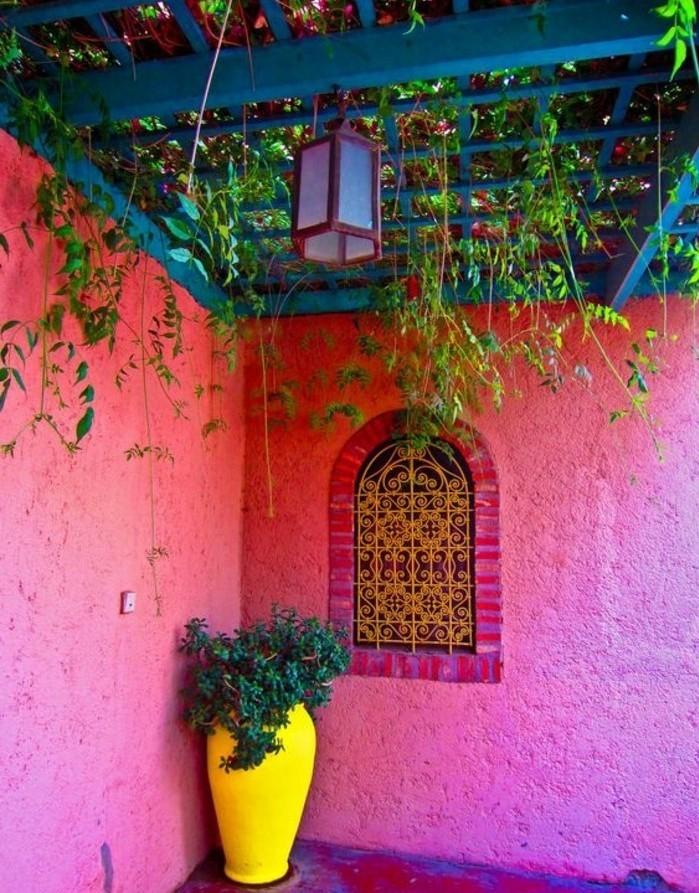 super-schöne-wandfarben-ideen-rosige-farbe-als-akzent