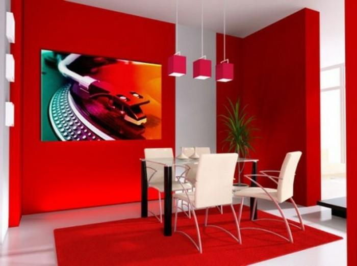 super-tolle-wandfarben-vorschläge-rotes-esszimmer-gestalten