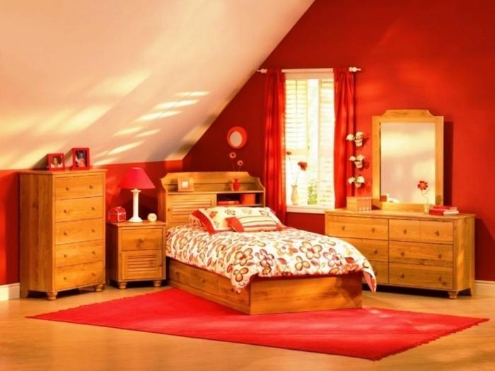 super-tolles-schlafzimmer-wandfarben-ideen-rote-wandgestaltung