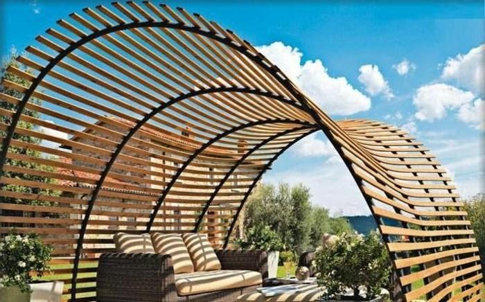 Ultramodernes Design Pergola Aus Holz Tolle Gestaltung Von