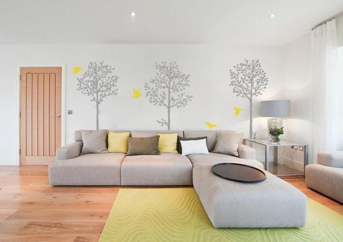 Wände Verzieren Kreatives Modell Wohnzimmer Mit Wandtattoos