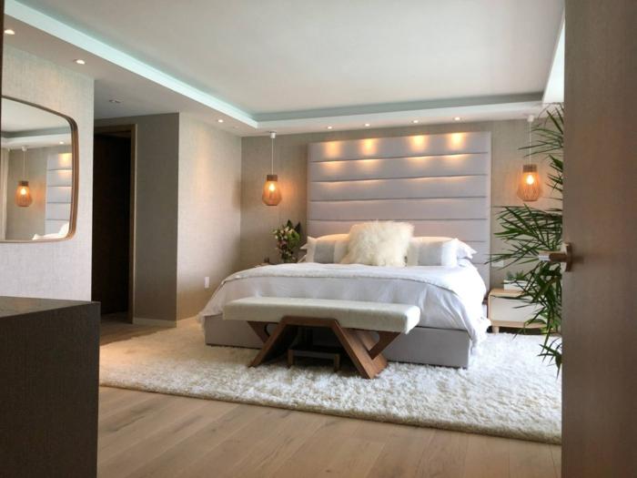 wand streichen ideen schlafzimmer organische farben zimmerdkeo mit pflanzen moderne eirnichtung