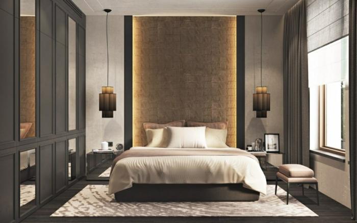 wand streichen ideen schlafzimmer schlafzimmer beleuchtung led licht kleines zimmer graue wände