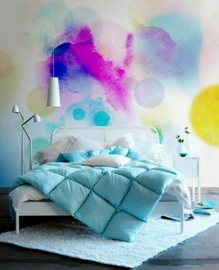100 Interieur Ideen mit grellen Wandfarben! - Archzine.net