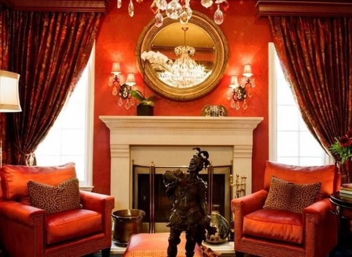 Wohnzimmer Wand Dekorieren : gemütliches aristokratisches wohnzimmer ...