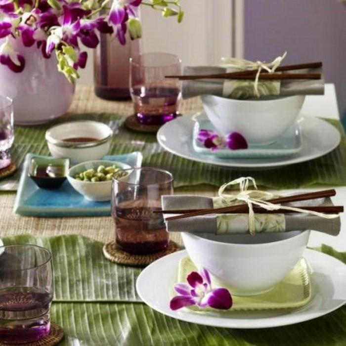 asiatische tischdeko erkl rung in 40 exotischen ideen. Black Bedroom Furniture Sets. Home Design Ideas