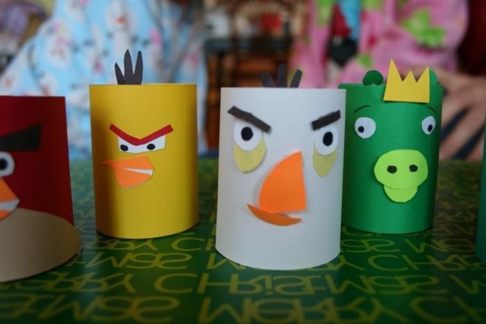 Bastelideen-mit-Klopapierrollen-aus-Angry-Birds