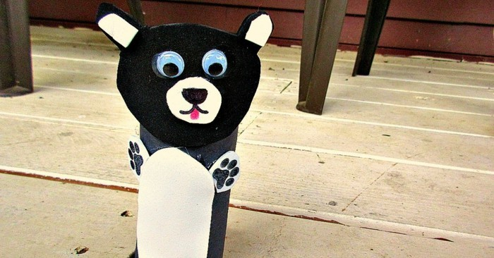 Basteln-mit-Kindern-ein-Bären