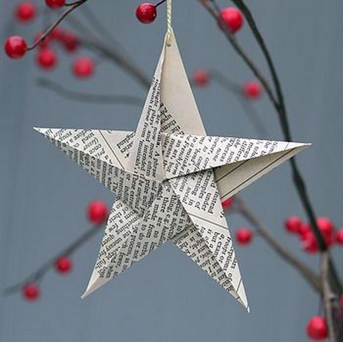Weihnachtsbasteln Papier.Basteln Mit Papier Weihnachtsdeko Aus Papier Kreieren