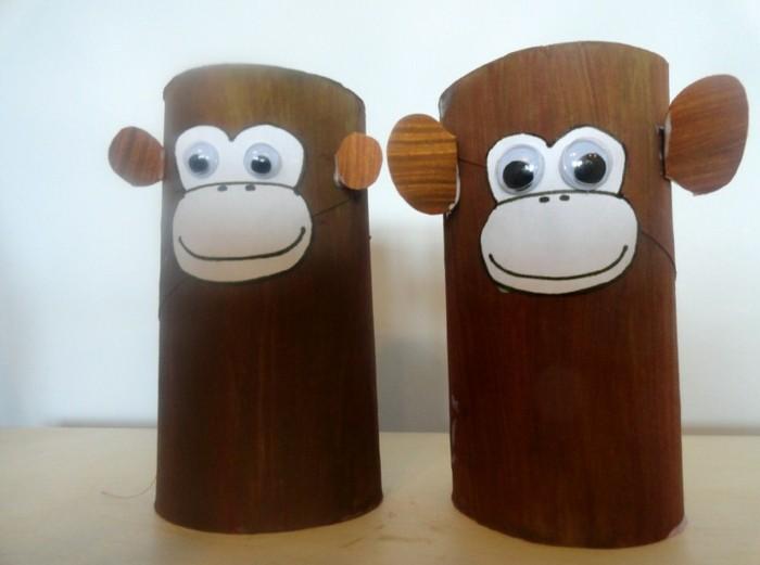 Einfache-Bastelideen-zwei-Affen