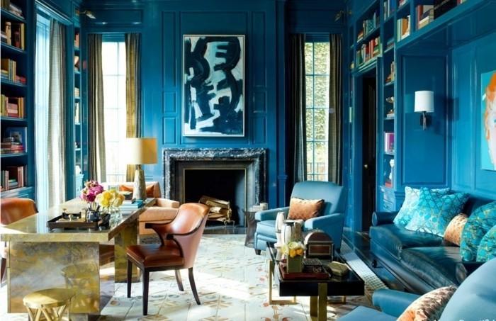 Feng-Shui-Wohnzimmer-ganz-in-blauer-Farbe