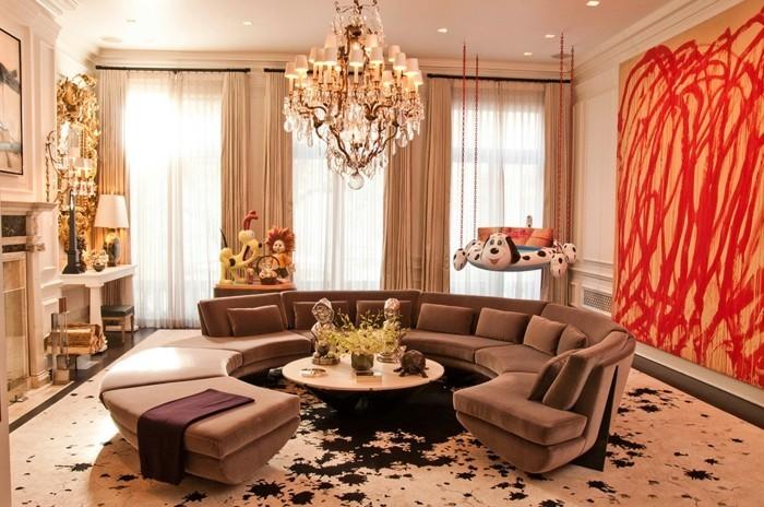 Feng Shui Wohnzimmer Mit Rundem Sofa