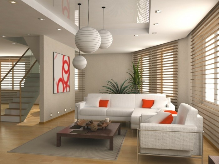 Feng-Shui-Wohnzimmer-weiße-Sofas