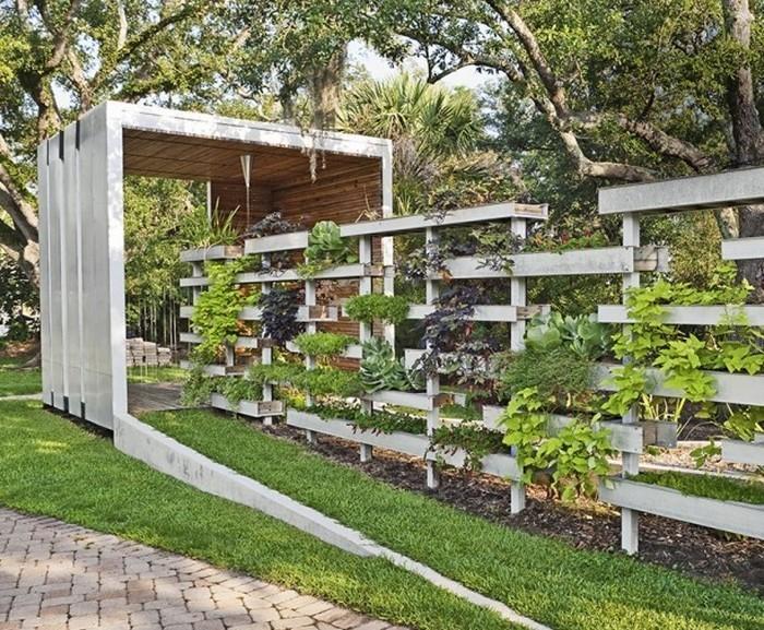 Attraktiv Gartenzaun Sichtschutz: 100 Wunderschöne Gartenmauer Vorschläge |  Gartendekoration ...