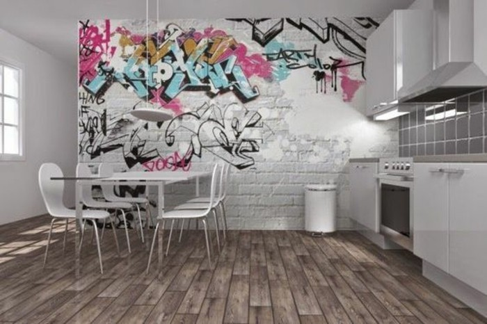 40 coole dekoideen mit graffiti im zimmer. Black Bedroom Furniture Sets. Home Design Ideas