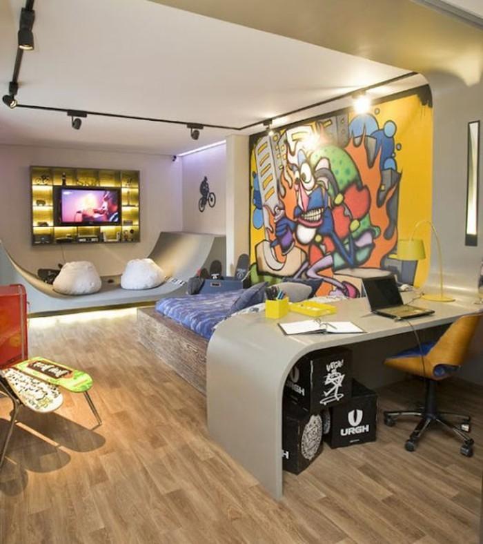 40 coole dekoideen mit graffiti im zimmer for Graffiti jugendzimmer