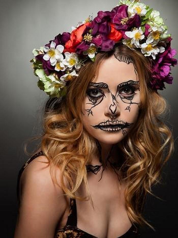 Halloween-Schminke-Eine-tolle-Gestaltung