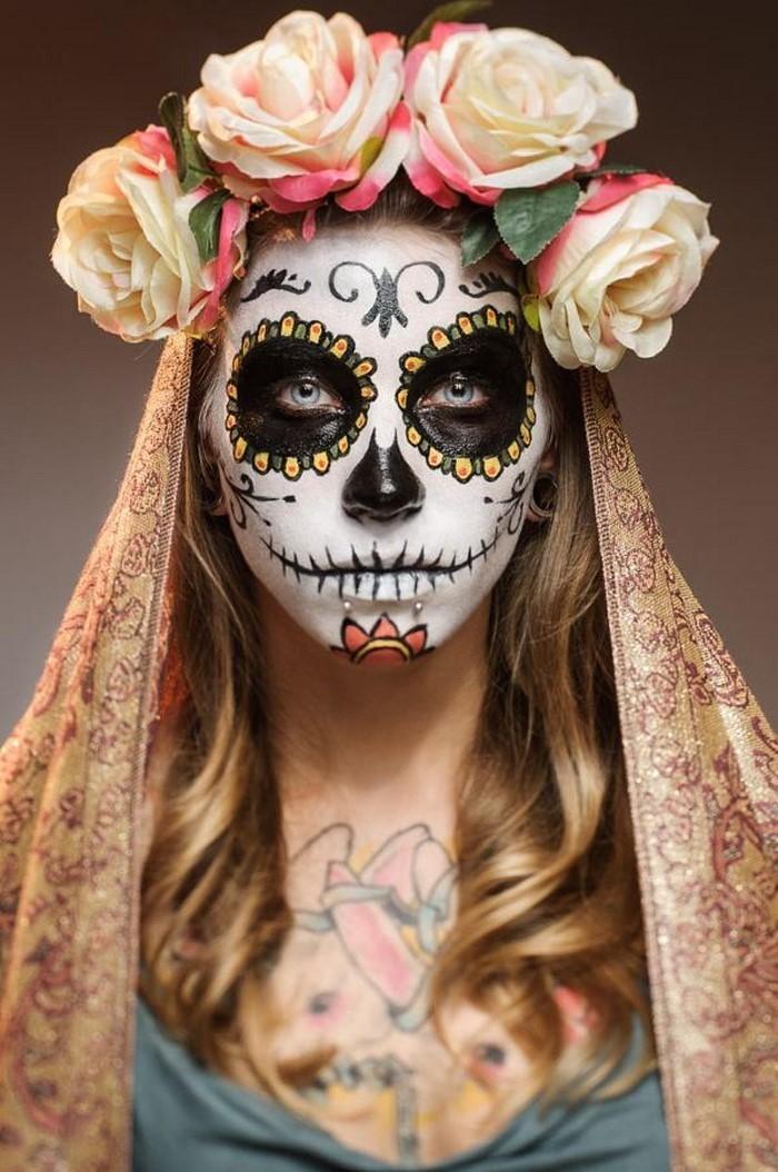 Halloween-Schminke-Eine-verblüffende-Gestaltung