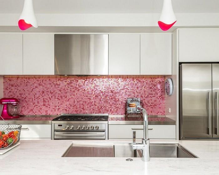 Küche wandgestaltung rot verleiht der küche mehr charakter