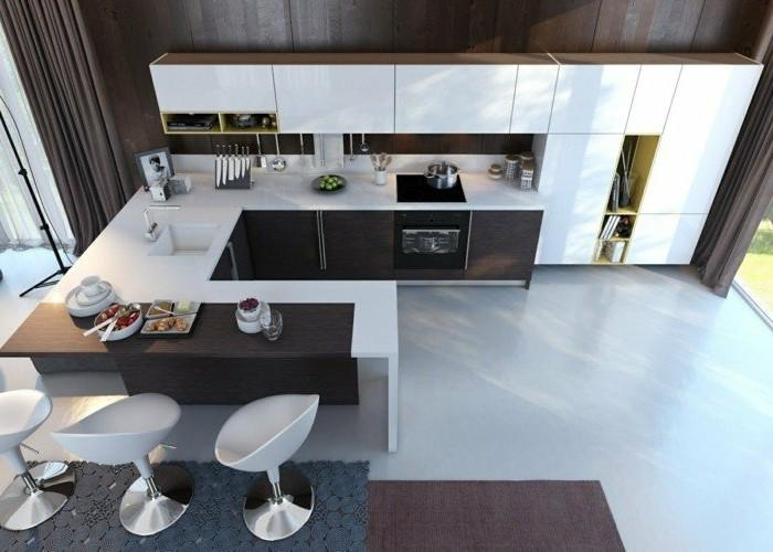 Super 70 coole Bilder von Küche mit Tresen - Archzine.net NQ53