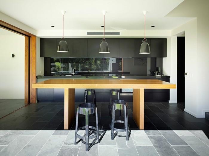 Küchen Mit Tresen Futuristisches Design